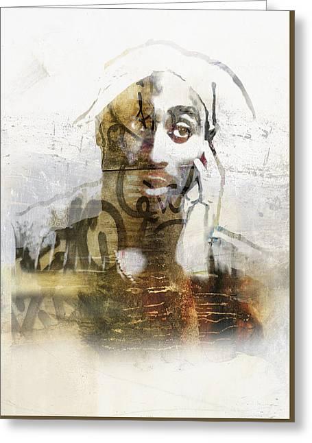 Pop Singer Greeting Cards - Tupac Graffitti 29 Greeting Card by Jani Heinonen