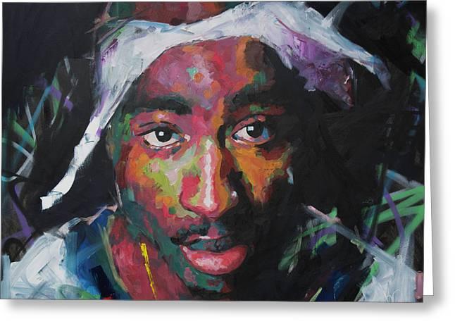 Tupac Shakur Greeting Card by Richard Day