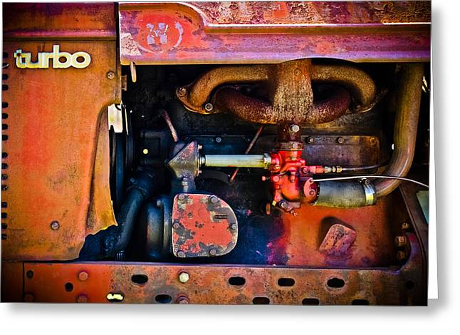 Mechanism Photographs Greeting Cards - Turbo Tractor Greeting Card by Colleen Kammerer