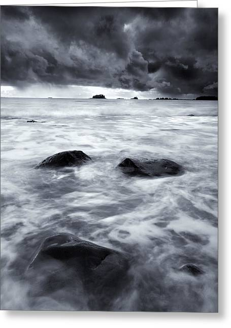 Sitka Greeting Cards - Turbulent Seas Greeting Card by Mike  Dawson