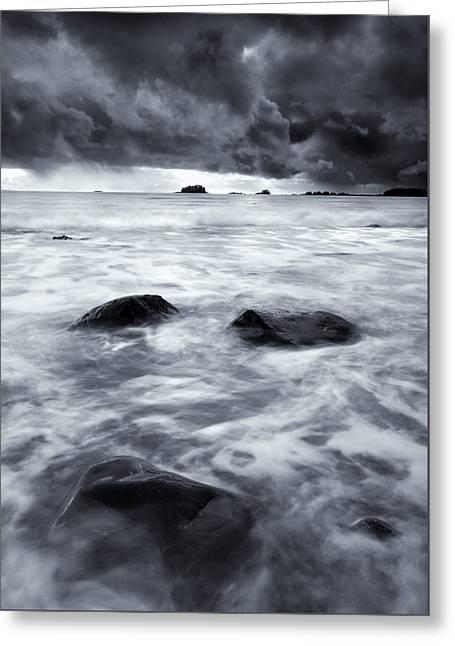 Turbulent Seas Greeting Card by Mike  Dawson