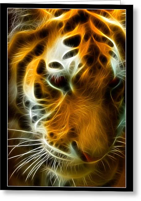 Lsu Greeting Cards - Turbulent Tiger Greeting Card by Ricky Barnard