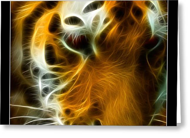 Turbulent Tiger Greeting Card by Ricky Barnard
