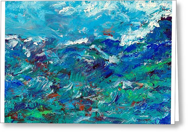 Disability Paintings Greeting Cards - Turbulent Waters Greeting Card by Empowered Creative Fine Art