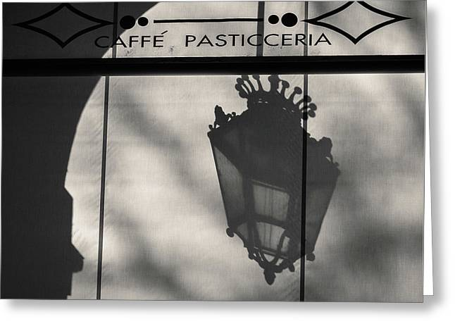 Turin Cafe Greeting Card by Dave Bowman
