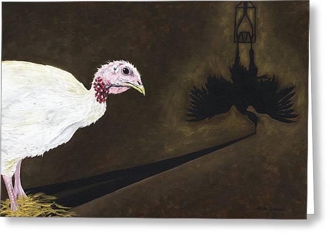 Turkey Shadow Greeting Card by Twyla Francois