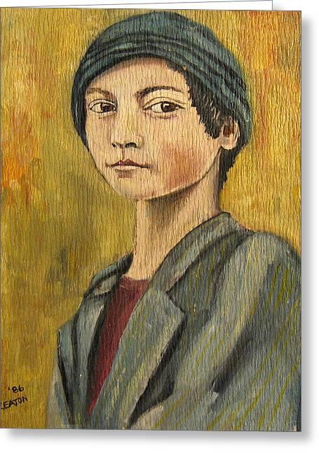 Turkish Boy Greeting Card by John Keaton