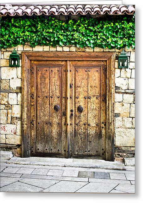 Entrance Door Greeting Cards - Turkish door Greeting Card by Tom Gowanlock