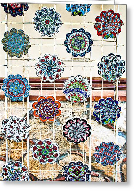 Turkish Pottery Greeting Card by Tom Gowanlock