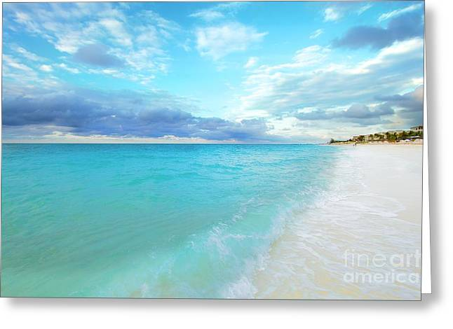 Ocean Art Photography Greeting Cards - Turks and Caicos Beach Greeting Card by Photographs by Joules