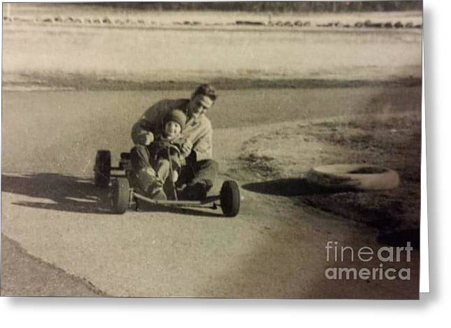 Go Cart Greeting Cards - Turn Left Greeting Card by Cindy  Riley