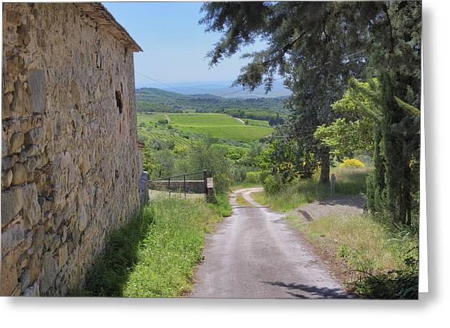 Chianti Greeting Cards - Turn South at the Old Barn Greeting Card by Doug Holck