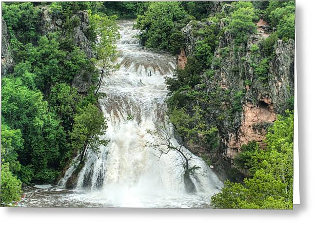 River Flooding Greeting Cards - Turner Falls Flooding 2 Greeting Card by Steve Seeger