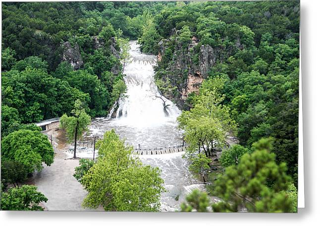 River Flooding Greeting Cards - Turner Falls Flooding Greeting Card by Steve Seeger