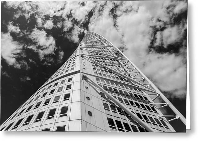 Abstract Geometric Greeting Cards - Turning Torso Greeting Card by Marcus Karlsson Sall