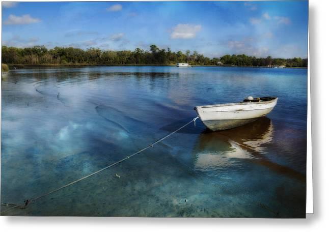 Turquoise Bay Greeting Card by Debra and Dave Vanderlaan