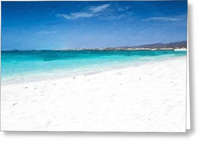 Coastline Greeting Cards - Turquoise beach Greeting Card by Anthony Fishburne