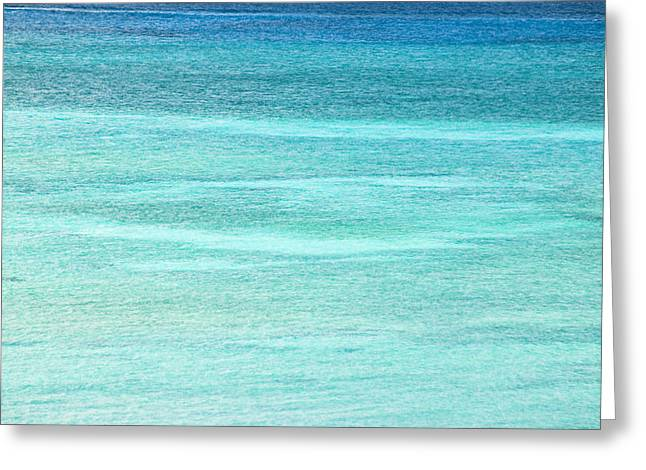 Turquoise Blue Carribean Water Greeting Card by James Forte
