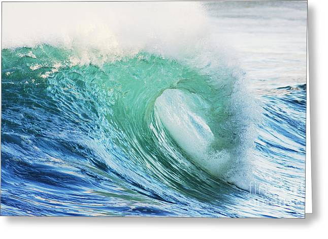 Vince Greeting Cards - Turquoise Curl Greeting Card by Vince Cavataio - Printscapes