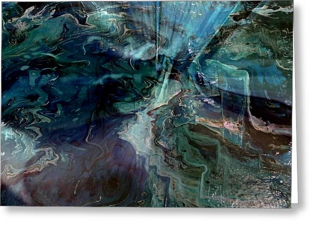 Souls Greeting Cards - Turquoise Magic Greeting Card by TLynn Brentnall