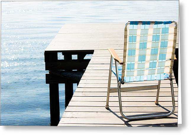 Lawn Chair Greeting Cards - Turquoise Paradise Greeting Card by Parker Cunningham