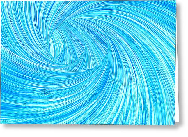 Abstract Waves Greeting Cards - Turquoise Rays Greeting Card by Lourry Legarde