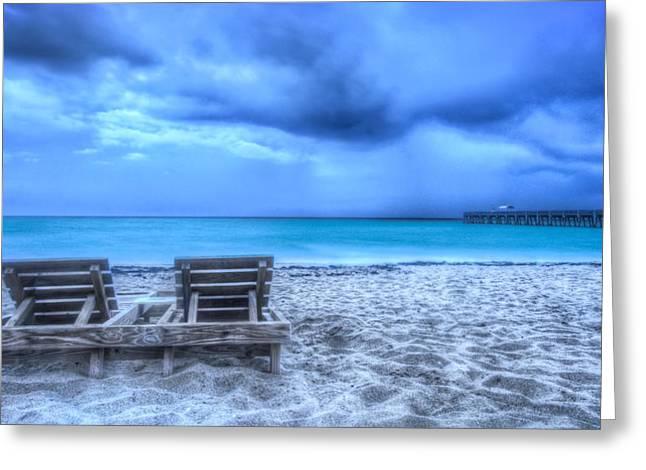 Sanddunes Greeting Cards - Turquoise Seas Greeting Card by Debra and Dave Vanderlaan