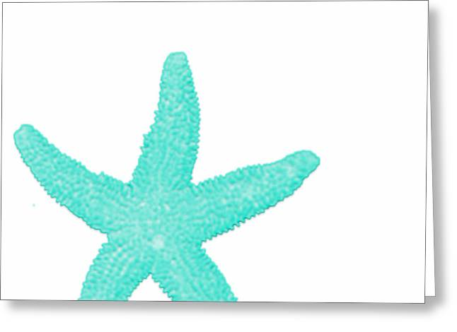 Turquoise Starfish Greeting Card by Bonnie Bruno