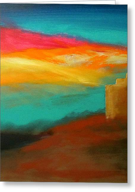 Sante Fe Trail Greeting Cards - Turquoise Trail Sunset Greeting Card by Keith Thue