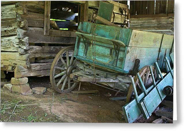 Buckboard Greeting Cards - Turquoise Wagon 2 Greeting Card by Douglas Barnett