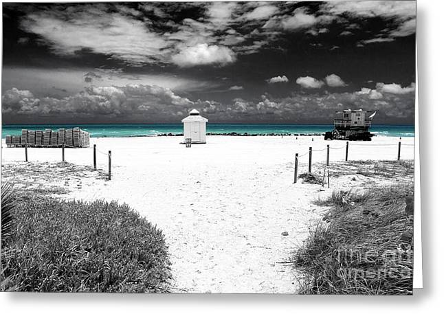 Beach White Posters Greeting Cards - Turquoise Water Fusion Greeting Card by John Rizzuto