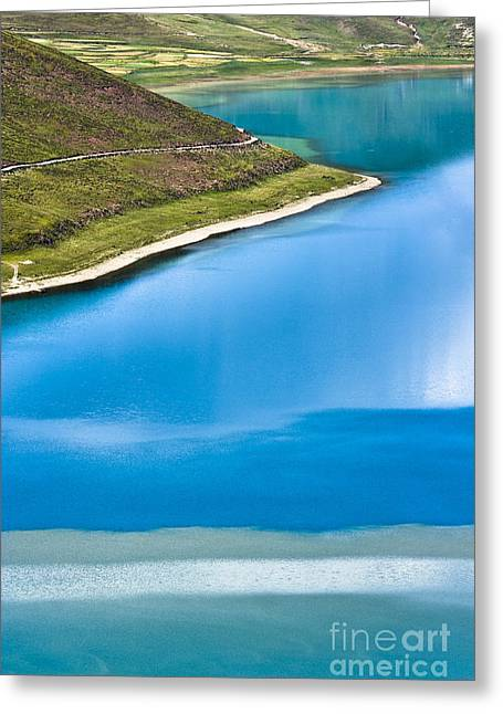 Lakescape Greeting Cards - Turquoise water Greeting Card by Hitendra SINKAR