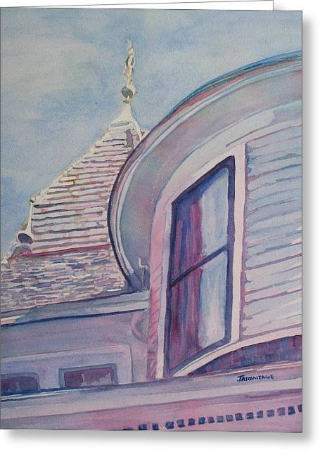 Anne Paintings Greeting Cards - Turret and Copula  Greeting Card by Jenny Armitage