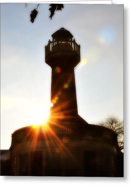 Turtle Rock Light House Greeting Card by Bill Cannon