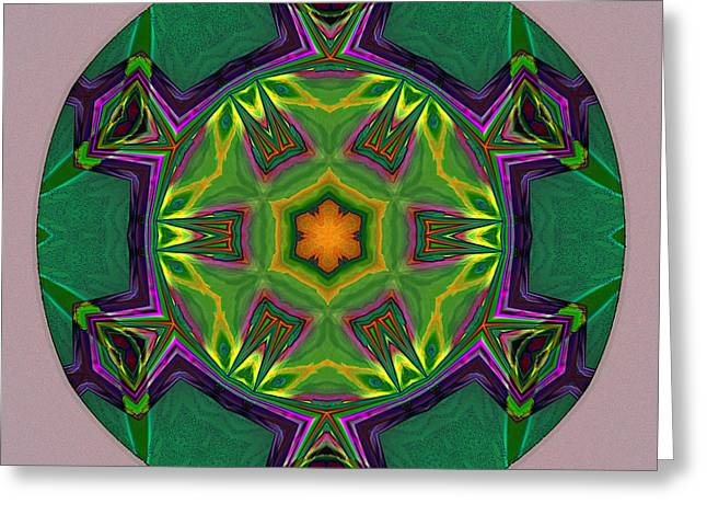 Geometric Image Greeting Cards - Turtle Tile Greeting Card by Bob  Eige