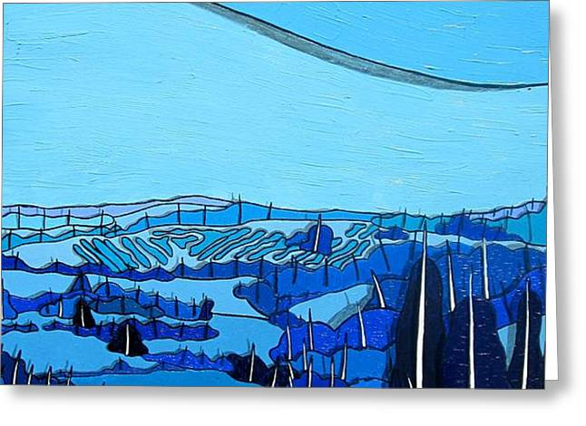 Tuscan Blue View Greeting Card by Jason Allen