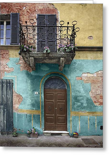 Hilltown Greeting Cards - Tuscan Entrance 5 Greeting Card by Al Hurley