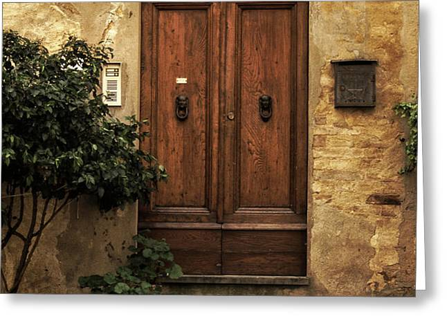 Tuscan Entrance Greeting Card by Andrew Soundarajan