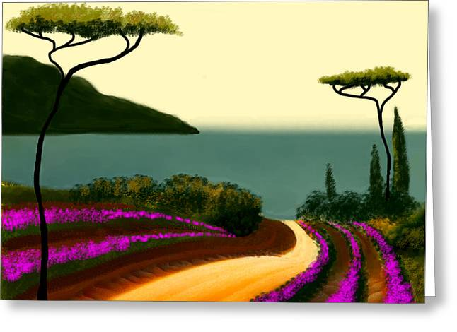 Larry Cirigliano Greeting Cards - Tuscan Fields Of Beauty Greeting Card by Larry Cirigliano