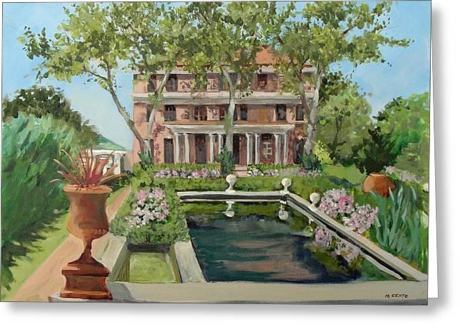 Tuscan Garden, Snug Harbor, S.i. Greeting Card by Mafalda Cento