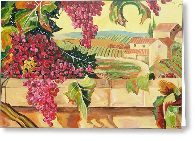 Johnkeaton Greeting Cards - Tuscan Harvest Greeting Card by John Keaton