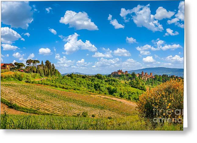 Tuscan Idyll  Greeting Card by JR Photography