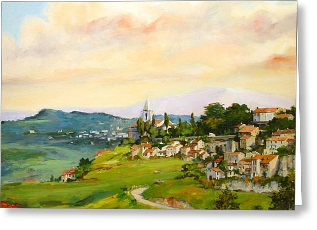 Tuscan landscape Greeting Card by Tigran Ghulyan