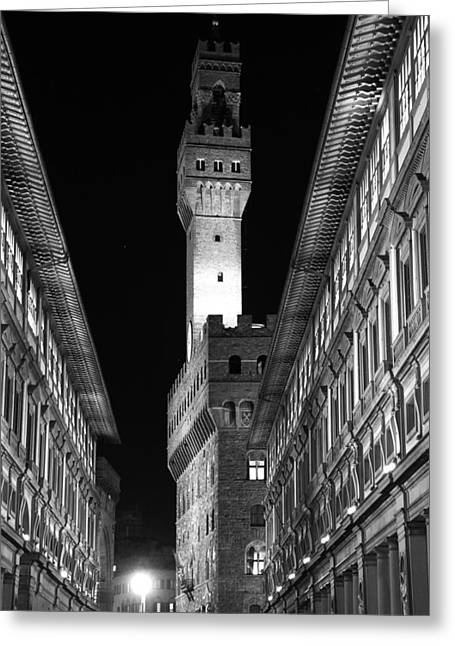 Uffizi Greeting Cards - Tuscan Lights - 1 of 3 Greeting Card by Alan Todd