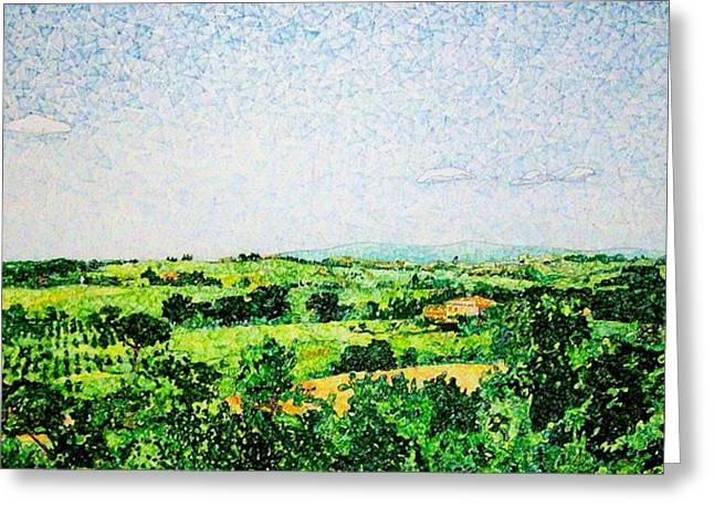 Tuscan Long View Greeting Card by Jason Charles Allen