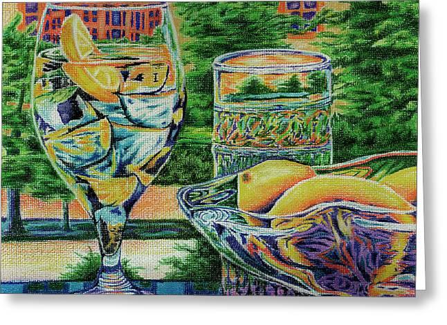 Tuscan Summer Lemonade  Greeting Card by Peter Piatt