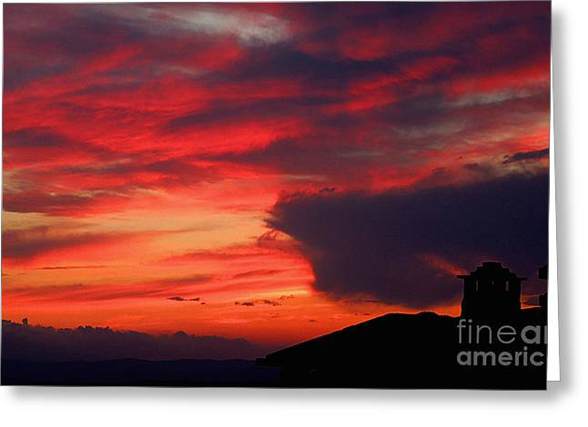 Tuscan Sunset Greeting Cards - Tuscan Sunset Greeting Card by Casavecchia Photo Art