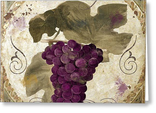 Red Wine Greeting Cards - Tuscan Table Rouge Greeting Card by Mindy Sommers