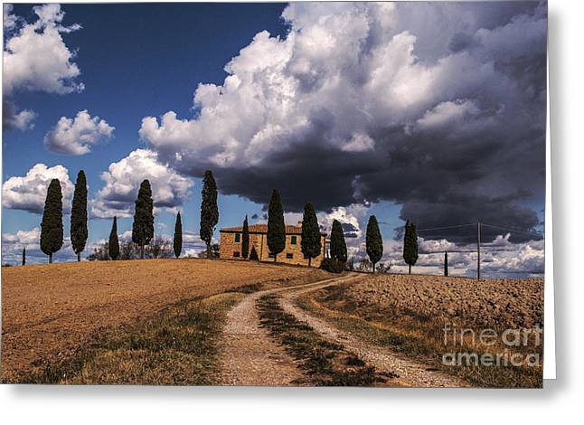 Tuscan Villa Greeting Card by Yuri Santin