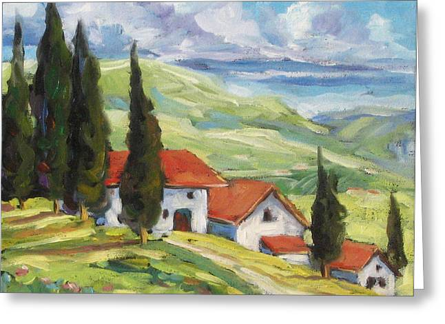 Flowers Direct Greeting Cards - Tuscan Villas Greeting Card by Richard T Pranke